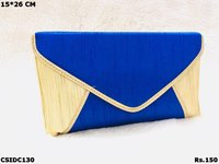 Simple Raw Silk Clutch