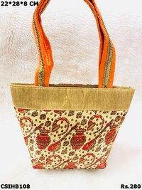 Cololurful Printed Handbag