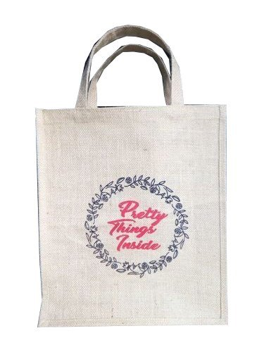 Printed Jute Carry Bag