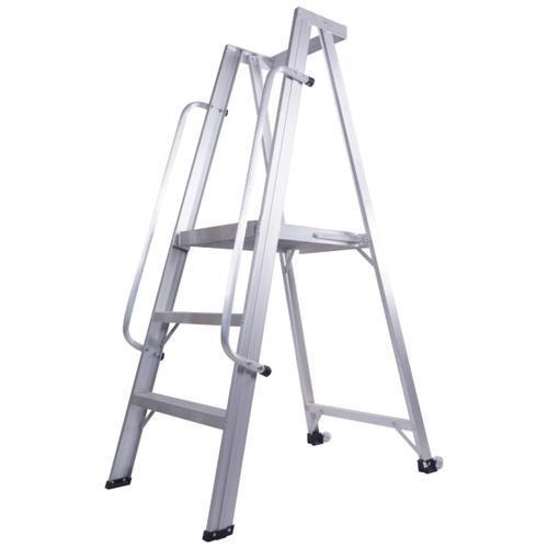 Double Platform Aluminium Ladder