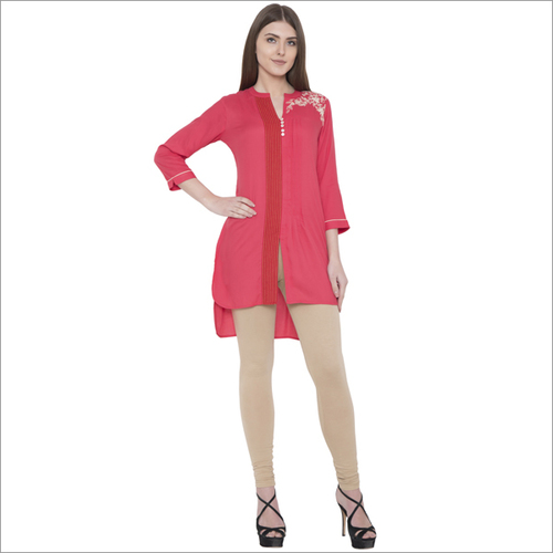 Embroidery Rayon  Front Open Kurti