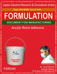 Acrylic Resin Adhesive Making