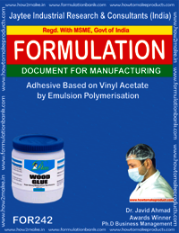 Adhesive based on vinyl acetate by emulsion polymerisation making