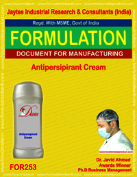 Formulation for making antiperspirant cream making