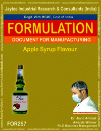 Apple Syrup Flavour Making
