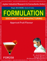 Appricot fruit flavour making