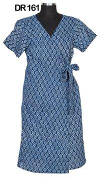 10 Cotton Hand Block Print Half Sleeves Kimono Robe DR161