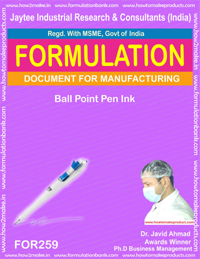 Inks Manufacturing Formulations