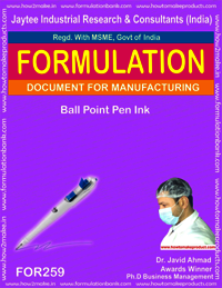 Ball point pen ink making