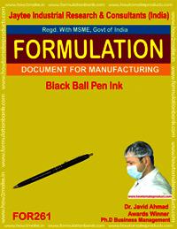 Black ball pen ink making