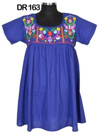 10 Plain Cotton Embroidered Short Womens Top Tunic DR163