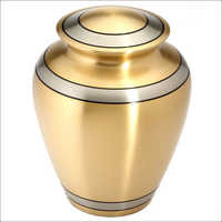 Golden Leaves Brass Urn