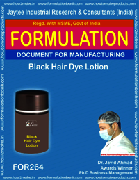 Black hair dye lotion making