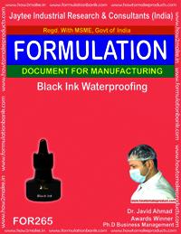 Black waterproofing ink