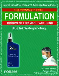 Blue ink waterproofing making