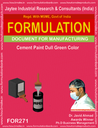 Cement paint dull green colour making