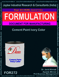 Cement paint ivory colour making