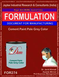 Cement paint pale grey colour