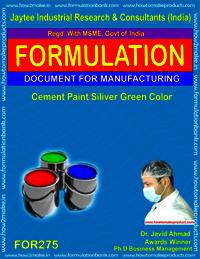 Cement paint silver green colour