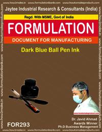 Dark blue ball pen ink