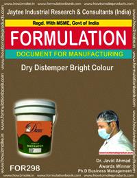 Dry distemper bright color