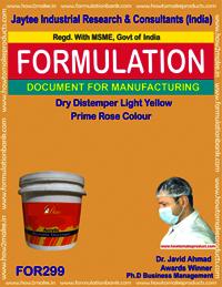 Dry distemper light yellow color