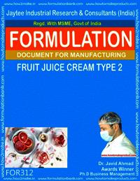 Formula of Fruit juice cream type 2