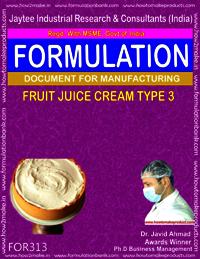 Formula of Fruit juice cream type 3