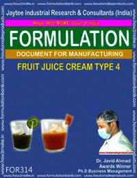 Formula of Fruit juice cream type 4