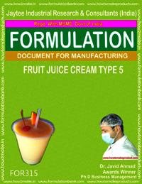 Formula of Fruit juice cream type 5