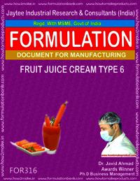 Formula of Fruit juice cream type 6