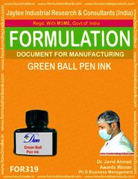 Green ball pen ink
