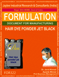 Hair dye powder jet black