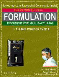 Formula of Hair dye powder type 1