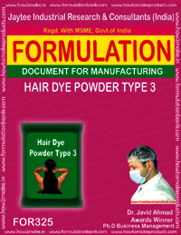 Hair dye powder type 3