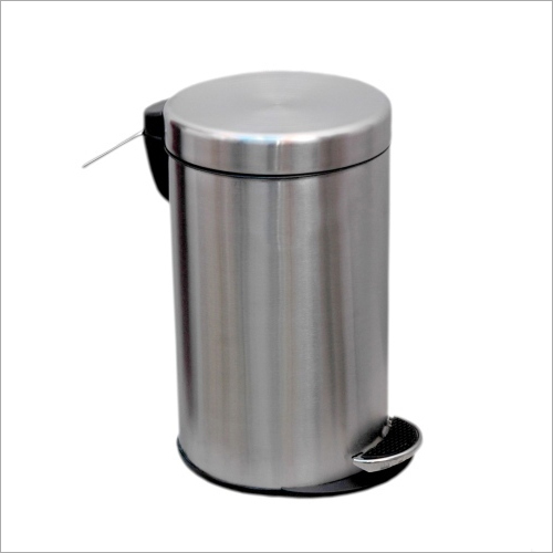 SS Peddle Plain Dust Bin
