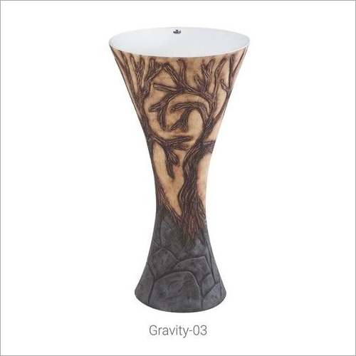 Wooden Color Pedestal Wash Basin