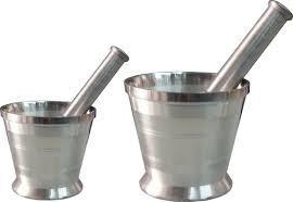 Alluminium Morrtar Pestle