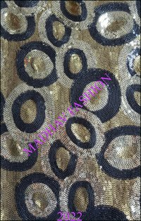 Black & Golden Sequin Embroidery