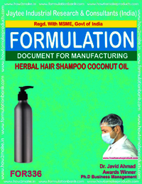 Herbal shampoo with coconut oil