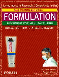 Herbal tooth paste extracted flavor