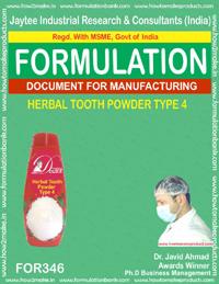 Herbal tooth powder type 4