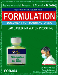 Lac based water proofing ink