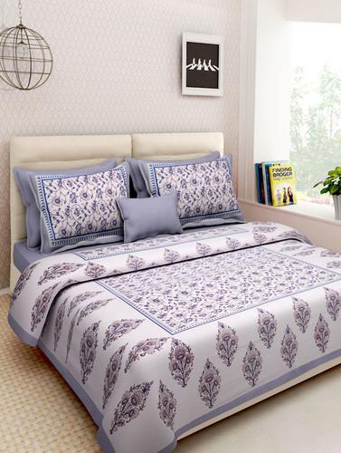 Cotton Printed King Size Bedsheet