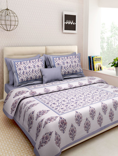 Cotton Printed King Size Bedsheet