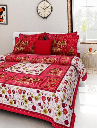 King Size Cotton Printed Bedsheet