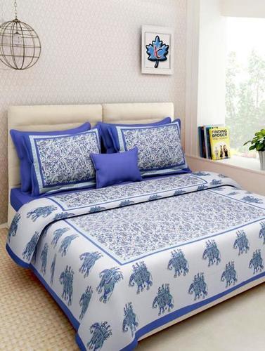 Applique Cotton Bed Sheet