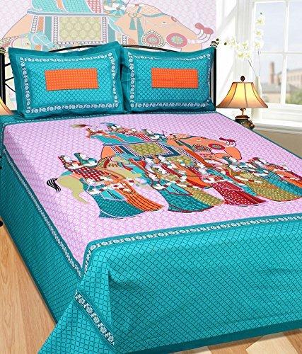Rajasthani Printed Cotton Bedsheet