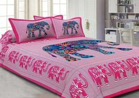 Animal Printed Cotton Bed Sheet