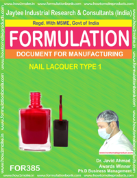 Nail Related Cosmetic Products Formulations
